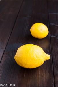Zitronen auf Dunkel Hintergrund