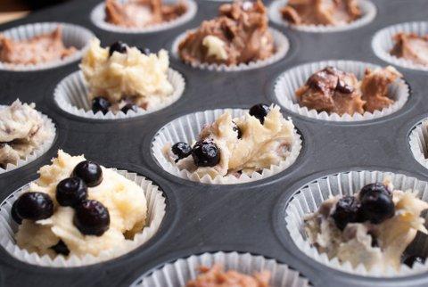 Einfache Muffins backen