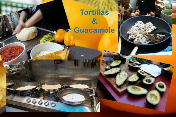 Tortillas (Fajitas) nicht aus der Packung sondern selbsgemacht. Ich bekamm rote hände von Teig ausrollen und bei mir sind die Tortillas nicht wirklich rund geworden. Geschmeckt habe sie trozdem!