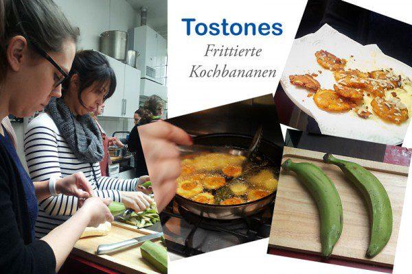 Ich wollte Arepas machen. Aber, es war so viel los und es gab so viel zu essen, dass ich mich umentschiedt für Tostones.